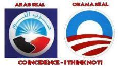 arab and obama seal